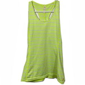 Lucy Activewear Neon Striped Racerback Tank Top